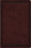Large Print Value Thinline Bible-ESV-Border Design : text, a quality trutone cover, and a concordance--all...