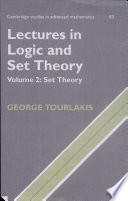 Lectures in Logic and Set Theory  Volume 2  Set Theory