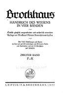 Brockhaus Handbuch des Wissens in vier Bänden