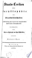 Staats-Lexikon oder Encyclopädie der Staatswissenschaften