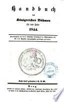 Schematismus des Königreiches Böhmen für das Jahr 1844