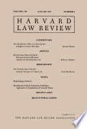 Harvard Law Review: Volume 130, Number 3 - January 2017