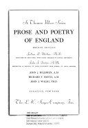 St  Thomas More Series  Prose and poetry of England
