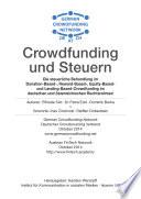 Crowdfunding und Steuern
