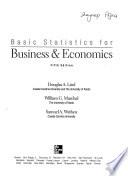 Basic Statistics For Business Economics 5th Edition Mcgraw Hill 2006