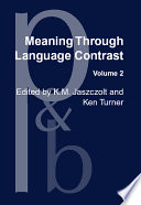 Meaning Through Language Contrast