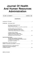 Journal of Health and Human Resources Administration