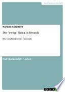 """Der """"ewige"""" Krieg in Rwanda"""