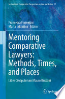 Mentoring Comparative Lawyers Methods Times And Places
