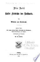 Geschichte der deutschen kaiserzeit: Die zeit Kaiser Friedrichs des Rotharts bd.2. Die letzen zeiten Kaiser Friedrichs ds Rotharts; nebst amm. und fortgesetzt von B. von Simson. 1895