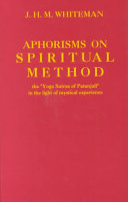 Aphorisms on Spiritual Method