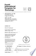 Proceedings of the fourth International Congress for Stereology