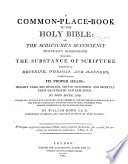 A Common-Place-Book to the Holy Bible ... By John Locke ... Revised and improved ... by William Dodd