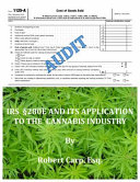 IRS   280e and Its Application to the Cannabis Industry