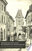 Zeitschrift des Harz-Vereins für Geschichte und Alterthumskunde