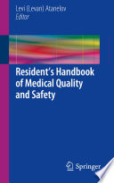 Resident   s Handbook of Medical Quality and Safety