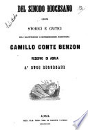 Del sinodo diocesano cenni storici e critici Camillo conte Benzon vescovo di Adria