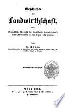 Geschichte der Landwirthschaft