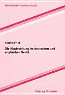 Die Kindestötung im deutschen und englischen Recht