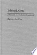 Edward Albee Playwright Edward Albee