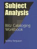 Subject Analysis Book PDF