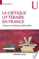 La critique littéraire en France
