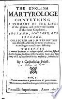 The English Martyrologe