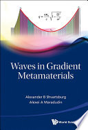 "Waves In Gradient Metamaterials : of applied physics, located at the ""crossing"" of..."