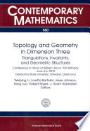 Topology and Geometry in Dimension Three