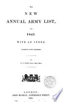 the new annual army list  for 1841 with an index