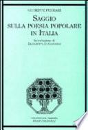 Saggio sulla poesia popolare in Italia