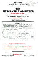 The Mercantile Adjuster ... and the Lawyer and Credit Man ...