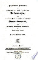 Populäres Handbuch der allgemeinen und speziellen Technologie