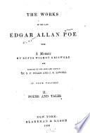 The Works of the Late Edgar Allan Poe  Poems and tales