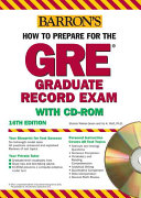 Barron s how to prepare for the GRE  Graduate Record Examination