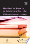 Handbook Of Research On Entrepreneurship Policy