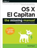 OS X El Capitan  The Missing Manual