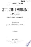 Sette giorni d insurrezione a Palermo