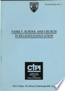 Family  School and Church in Religious Education