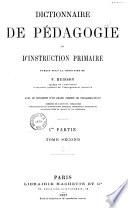 Dictionnaire de p  dagogie et d instruction primaire