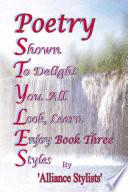 Poetry Styles Book Three