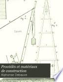 Proc  d  s et mat  riaux de construction  Sondages  terrassements  dragages