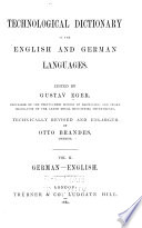 Technological Dictionary in the English and German Languages