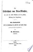 Die Stiftsschule von Bero-Münster, ihr und der Stift Einfluß auf die geistige Bildung der Umgebung