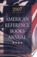 American reference books annual  Vol  38  2007