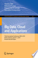 Big Data Cloud And Applications