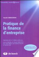 Pratique de la finance d'entreprise
