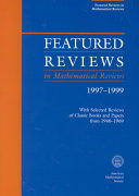 Featured Reviews in Mathematical Reviews