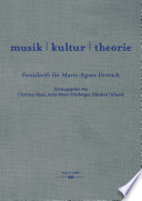Musik Kultur Theorie