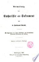 Verwaltung der Eucharistie als Sakrament